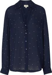 Nina Blouse In Navy Beetle