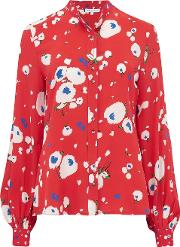 Maddox Blouse In Love Heart Floral