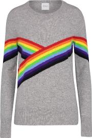 Bebe Rainbow Jumper In Pale Grey