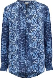 Stowe Blouse In Blue Python