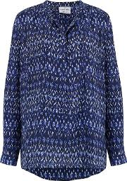 Stowe Blouse In Ikat Bluebell