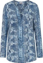 Windsor Python Print Blouse In Sapphire