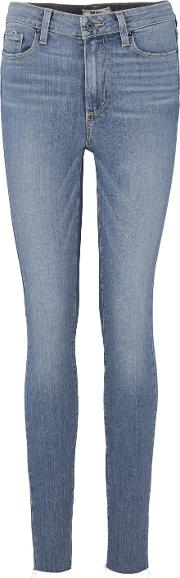 Hoxton Skinny Ankle Peg Jean With Raw Hem In Melody