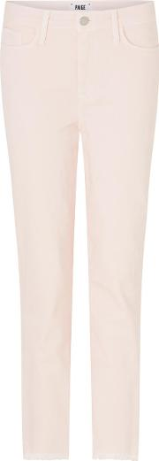 Hoxton Straight Crop Jean In Faded Cotton Candy