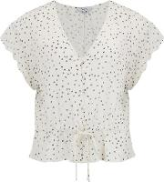 Bretton Top In Ivory Speckled Dot