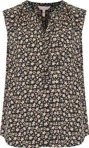Louisa Floral Top In Yellow Combo