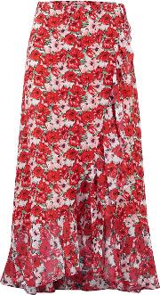 Gracie Wrap Skirt In Diana Floral