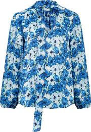 Moss Blouse In Diana Blue Floral