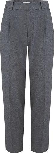 Easy Tapered Pull On Trouser In Heather Grey