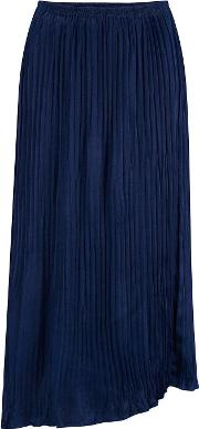 Mixed Pleated Skirt In Hydra