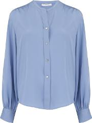 Shirred Back Blouse In Avalon
