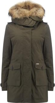 Scarlett Eskimo 3 In 1 Parka Coat In Olive