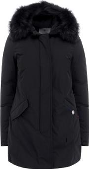 Shearling Artic Parka In Black