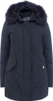 Shearling Artic Parka In Midnight