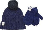 Boys Hat And Mitten Boxed Set Kids Cold Weather Accessories Night M 46 Yrs