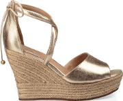 Reagan Metallic Wedge Womens Sandals