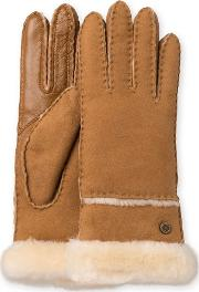 Sheepskin Exposed Slim Tech Glove Womens Cold Weather Accessories