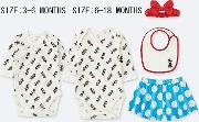 Babies Disney Collection Long Sleeved Gift Set Four Pack