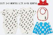 Babies Disney Collection Short Sleeved Gift Set Four Pack
