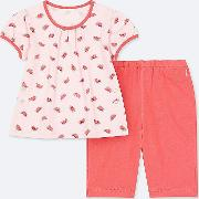 Babies Toddler Dry Watermelon Print Short Sleeved Pyjamas