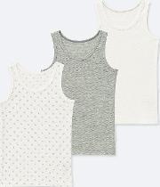 ace5d59eb6903d Babies Toddler Mesh Inner Tank Top Pack Of 3. uniqlo