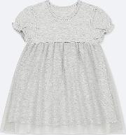 Babies Toddler Tulle Dotted Short Sleeved Dress
