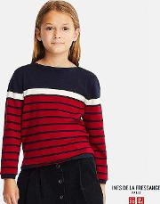 Kids Ines Extra Fine Merino Line Long Sleeve Striped Sweater