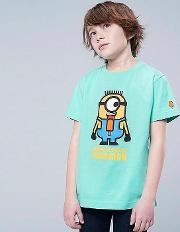 Kids Minions Short Sleeved Graphic Print T Shirt