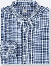 Men Extra Fine Cotton Broadcloth Checked Long Sleeved Shirt