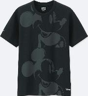 Men Mickey Art Short Sleeve Graphic T Shirt