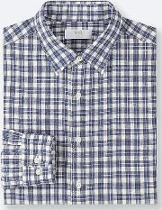 Men Premium Linen Checked Shirt Regular Collar