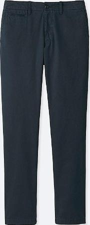 Men Regular Fit Flat Front Vintage Chino Trousers L34