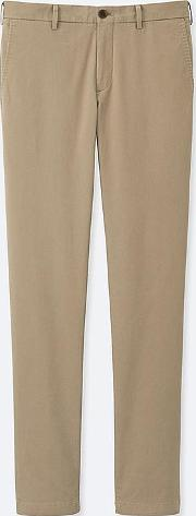 Men Slim Fit Chino Flat Front Trousers L32