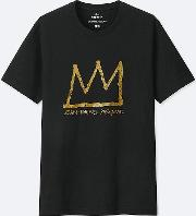 Men Sprz Ny Short Sleeve Graphic T Shirt Jean Michel Basquiat