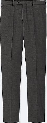 Men Stretch Wool Flat Front Trousers