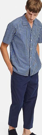 Men Striped Short Sleeved Pyjamas
