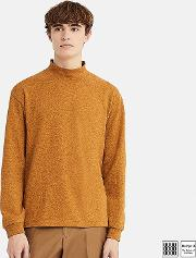 Men Uniqlo U Oversized Mock Neck Long Sleeve T Shirt