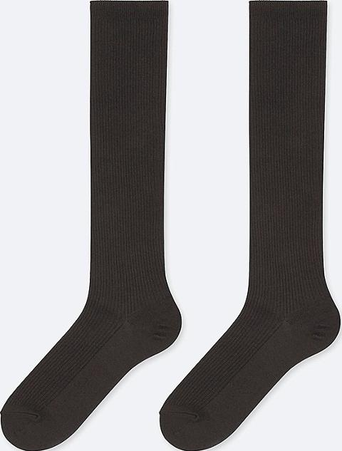 f453d36df8d uniqlo Women Heattech Knee High Socks 2 Pairsrib