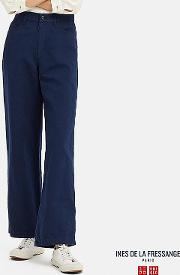Women Ines Linen Cotton Blend Relaxed Fit Trousers