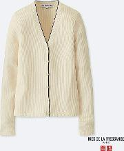 Women Ines Supima Cotton Ribbed V Neck Cardigan