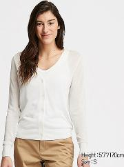Women Lightweight V Neck Cardigan