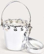 Silver Mirror Bucket Bag