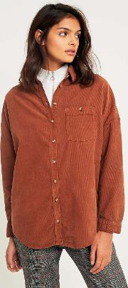 Corduroy Dolman Sleeve Button Down Shirt