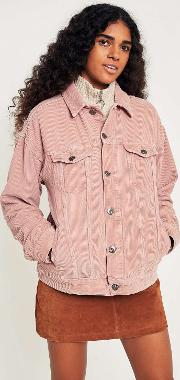 Dusty Pink Corduroy Trucker Jacket