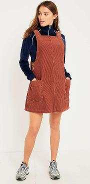 Easy Red Corduroy Pinafore