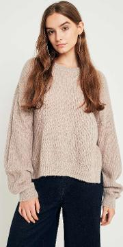 Ribbed Knit Fisherman Jumper