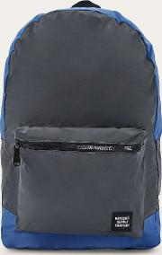 . Reflective Blue And Black Daypack Backpack