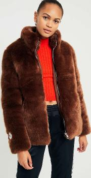 Penny Brown Faux Fur Puffa Jacket