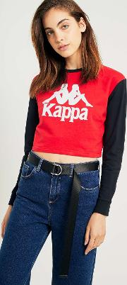 Red Colour Block Long Sleeve T Shirt
