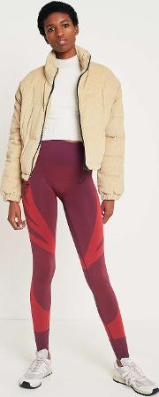 Sand Corduroy Cropped Puffer Jacket